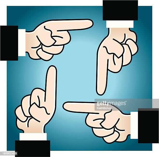 ilustraciones, imágenes clip art, dibujos animados e iconos de stock de señalando la mano-culpa - asumir la responsabilidad