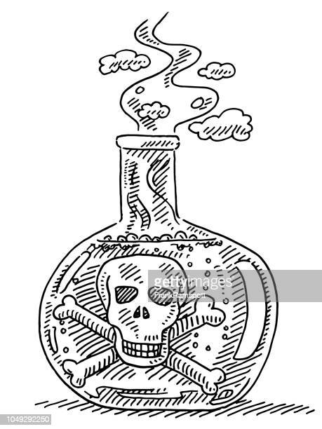 Flasche Zeichnung zu vergiften