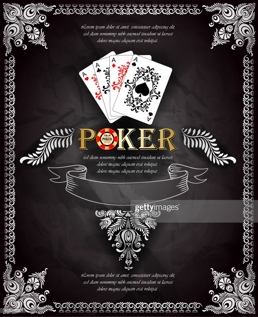 Poker aces. Vector background.Texas holdem.