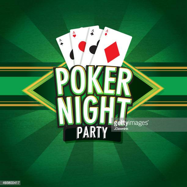 Poker and cards game night  design
