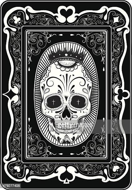 poker card - gothic style stock illustrations, clip art, cartoons, & icons
