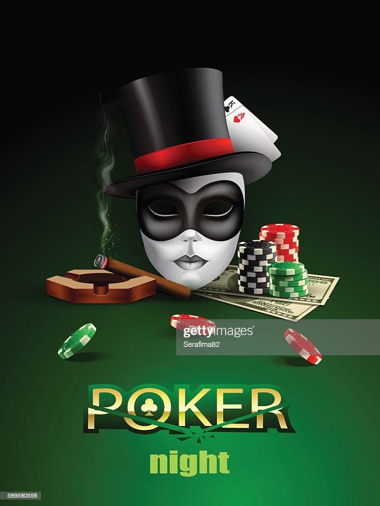 Poker casino poster.