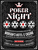 Poker Charity Tournament Poster on Black Background