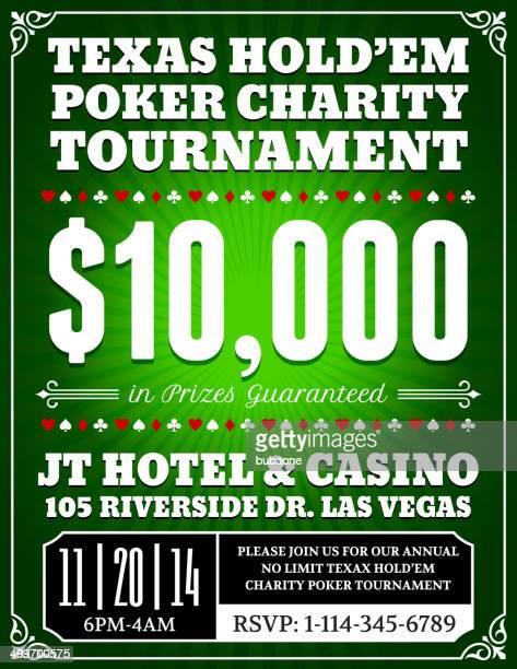 poker charity tournament poster on green background - corona zon stock illustrations