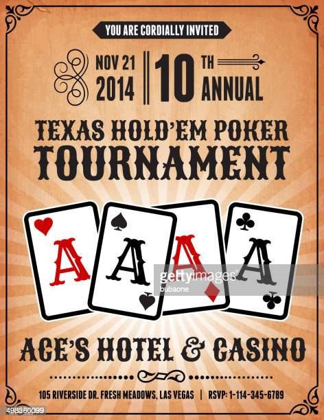 poker charity tournament poster on royalty free vector background - ace stock illustrations, clip art, cartoons, & icons