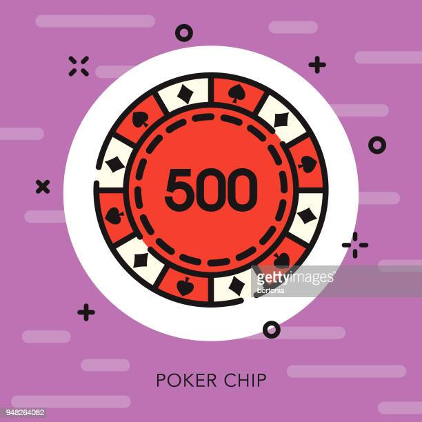 Poker Chip Open Outline Casino Icon