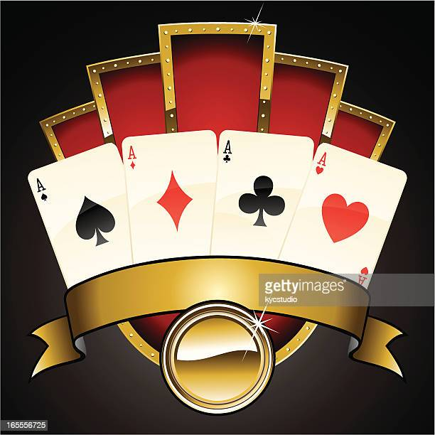 poker marquee - ace stock illustrations, clip art, cartoons, & icons