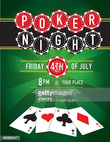 Poker Night Chip And Casino Game Night Invitation Design Template ...