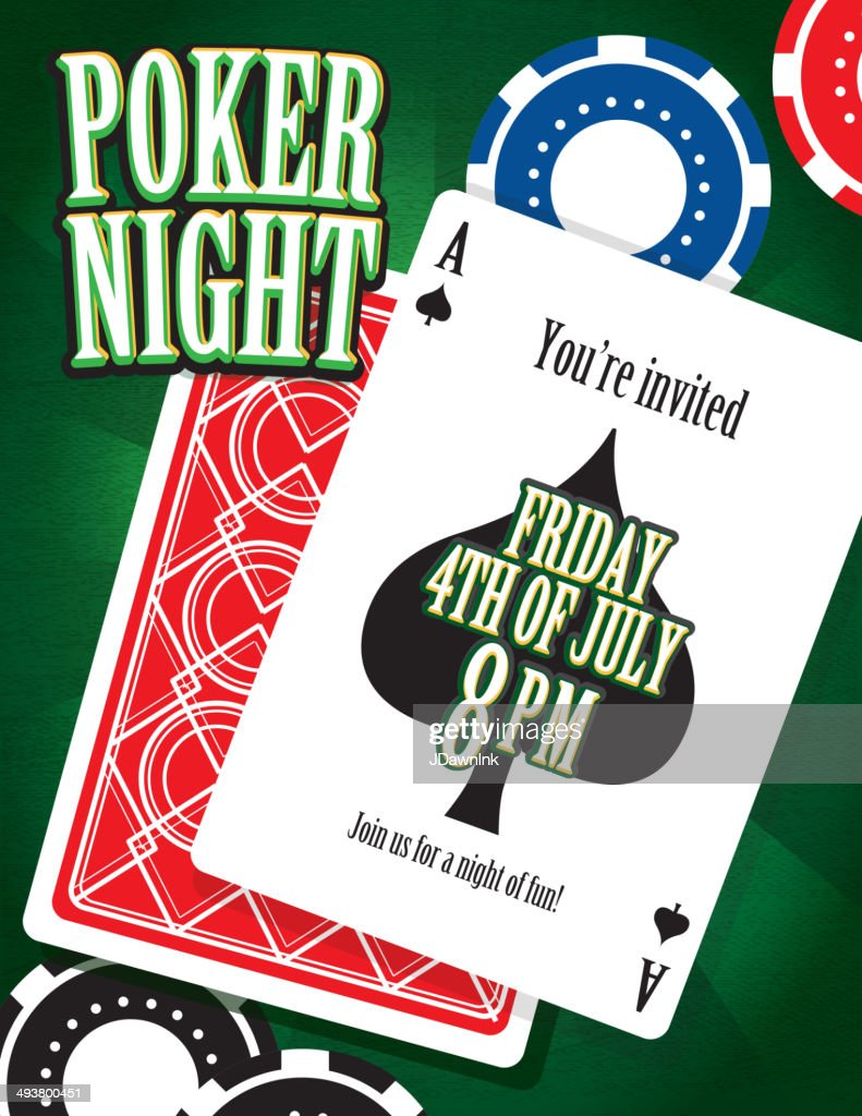 Poker night party and card game night invitation design template poker night party and card game night invitation design template vector art stopboris Images