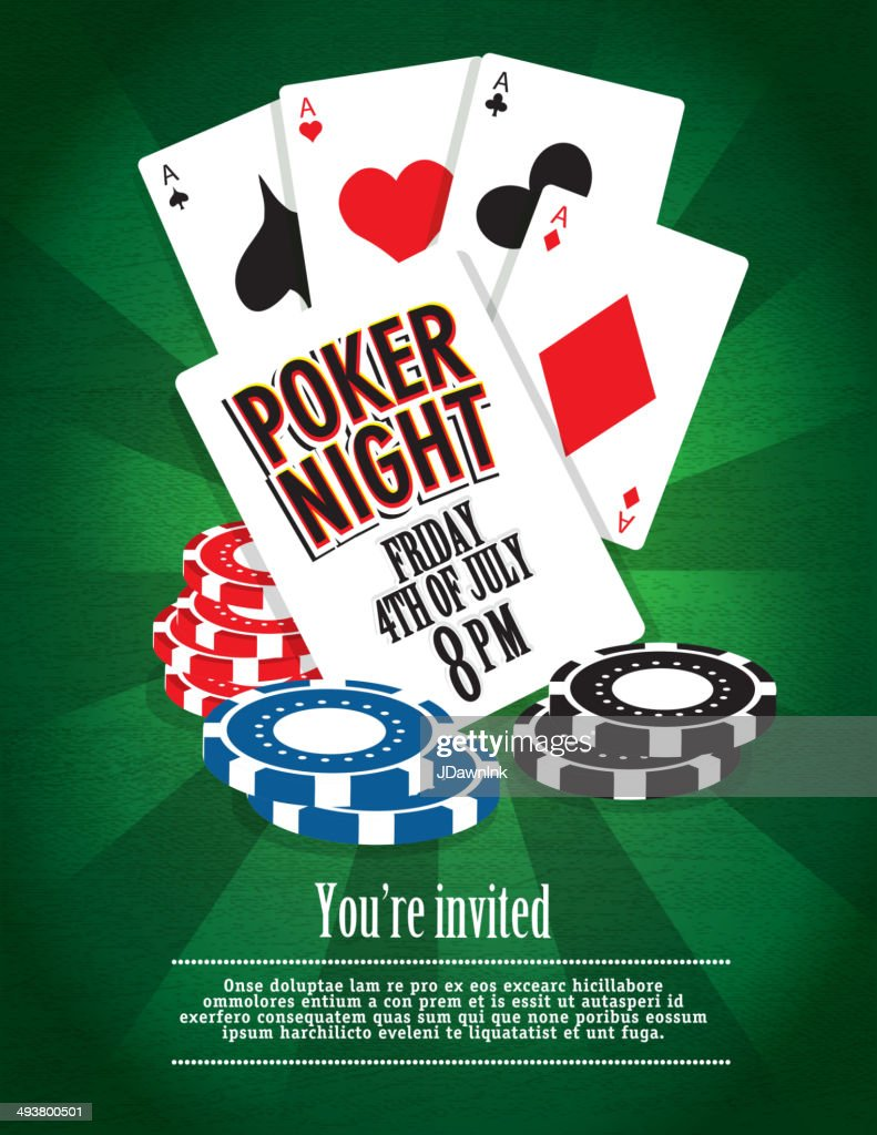 Poker Night Party And Casino Game Night Invitation Design Template ...