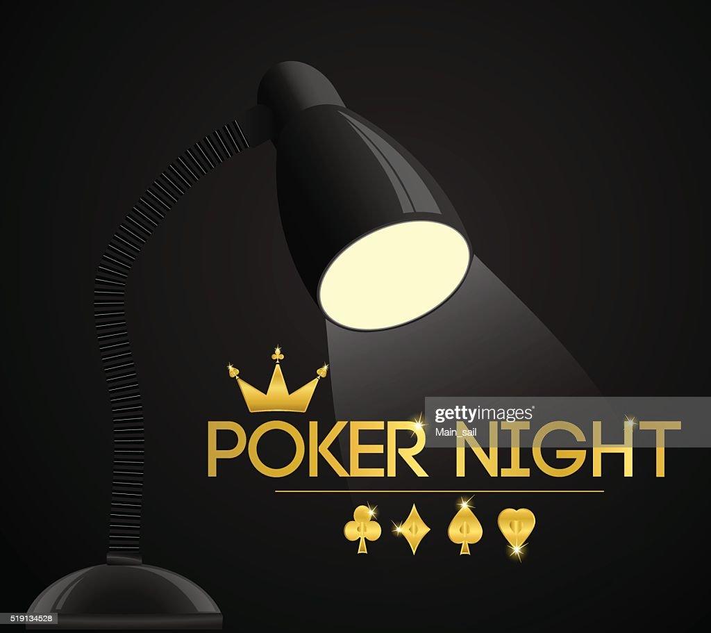 poker night party. Vector illustration.