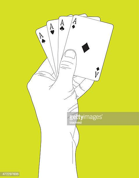 poker of aces - ace stock illustrations