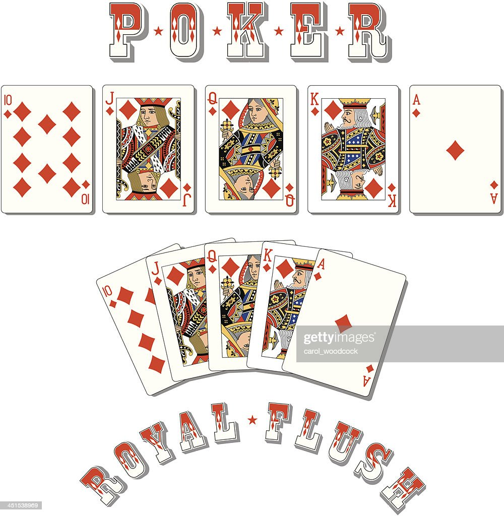Poker Royal Flush Diamonds High Res Vector Graphic Getty Images