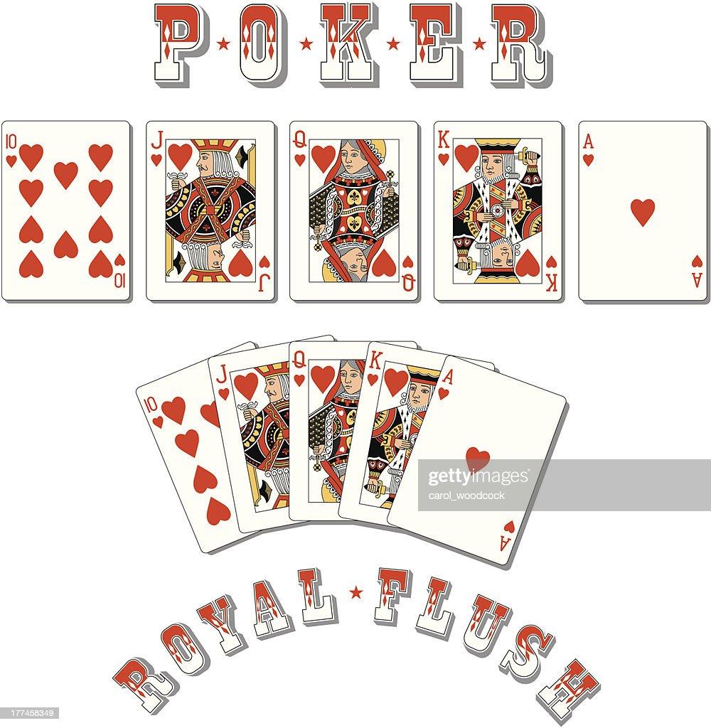 Poker Royal Flush : stock illustration