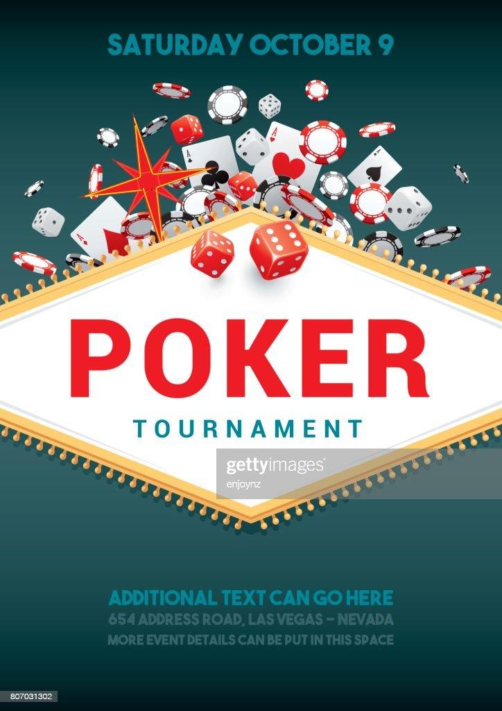 Cartel torneo de Poker : Ilustración de stock