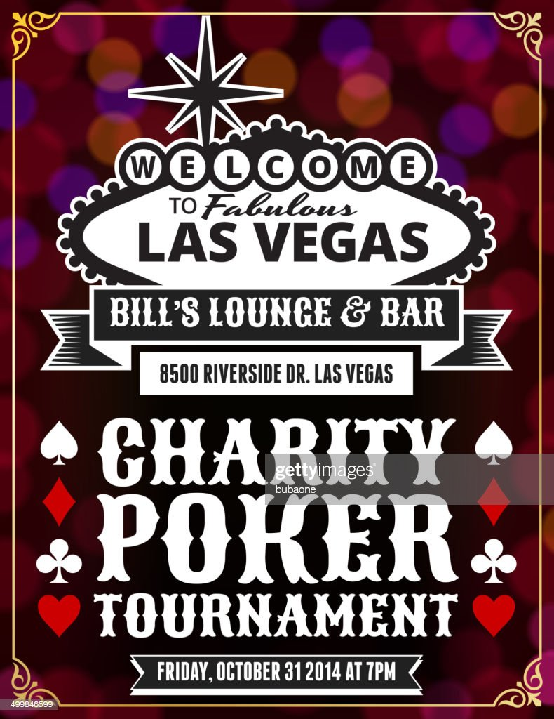Poker tournament poster with abstract background