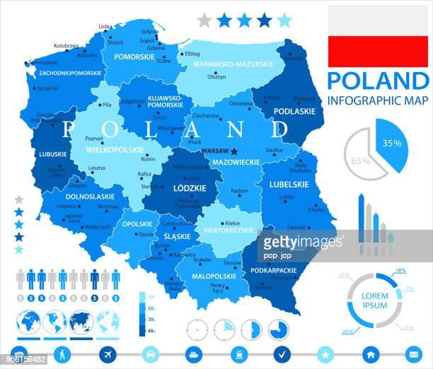 05-ポーランド - ブルー スポット インフォ グラフィック 10 - エウロパ点のイラスト素材/クリップアート素材/マンガ素材/アイコン素材