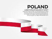 Poland flag background