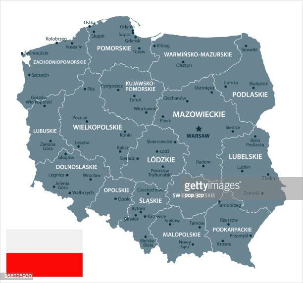 30 - poland - grayscale isolated 10 - poland stock illustrations