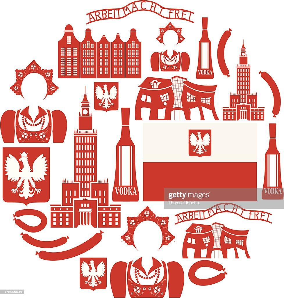 Poland Icon set : Vector Art