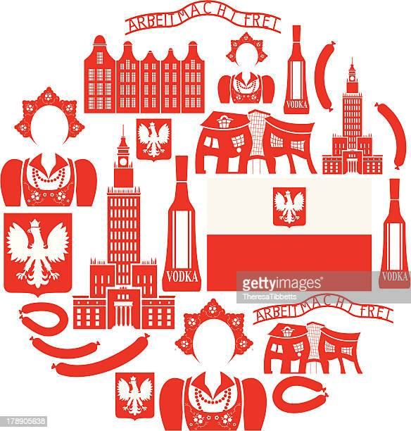 stockillustraties, clipart, cartoons en iconen met poland icon set - polen