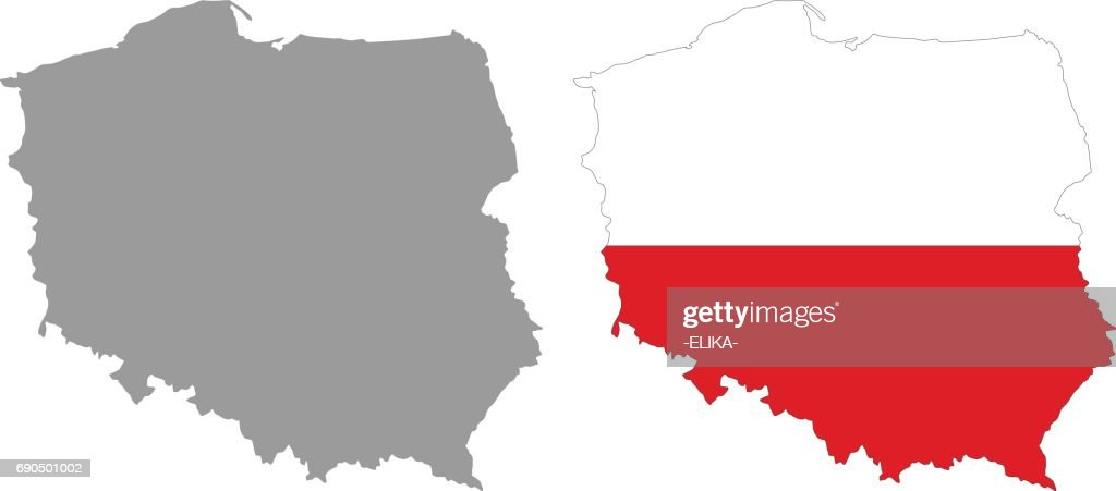 Poland Map And Flag Vector Art | Getty Images