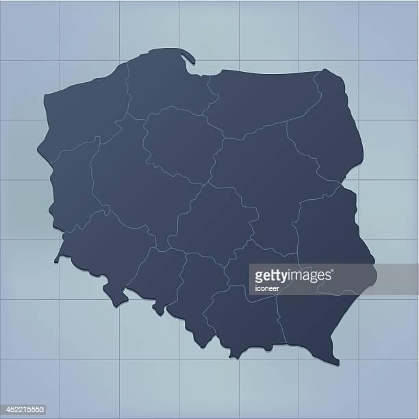 Poland map dark