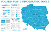 Poland Map - Info Graphic Vector Illustration