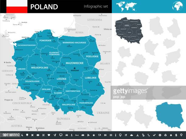 09-ポーランド - murena インフォ グラフィック ショート 10 - エウロパ点のイラスト素材/クリップアート素材/マンガ素材/アイコン素材
