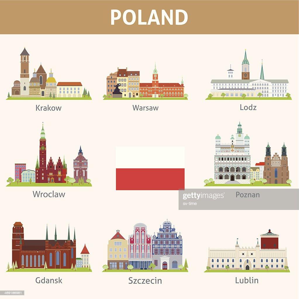 Poland. Symbols of cities