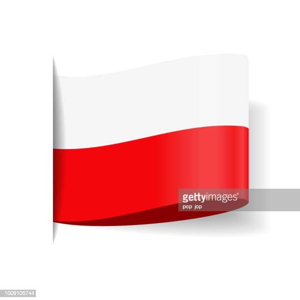 Poland - Tag Label Flag Vector Flat Icon