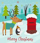 Polar animals send letters to Santa Claus