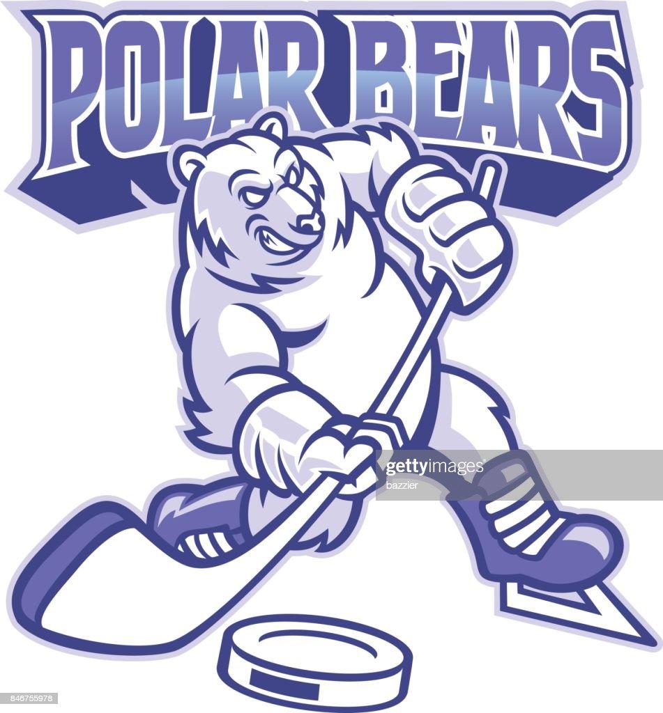 polar bear ice hockey mascot