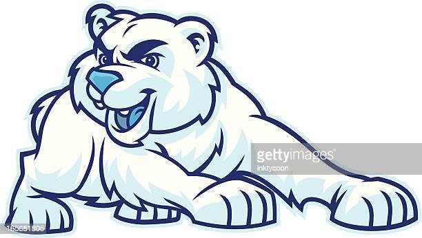 polar bear mascot - bear cub stock illustrations