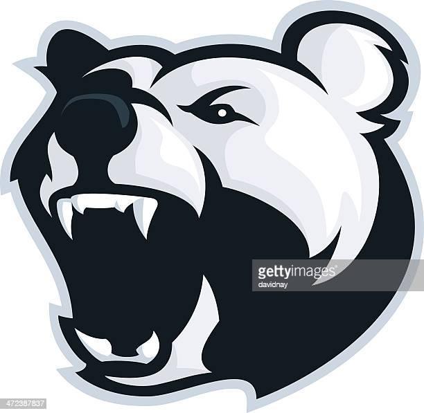illustrations, cliparts, dessins animés et icônes de mascotte ours polaire - ours polaire