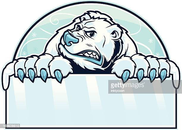 ilustraciones, imágenes clip art, dibujos animados e iconos de stock de oso polar señal - oso polar