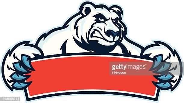 illustrations, cliparts, dessins animés et icônes de panneau ours polaire - ours polaire