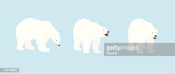 illustrations, cliparts, dessins animés et icônes de ours polaire silhouettes - ours polaire