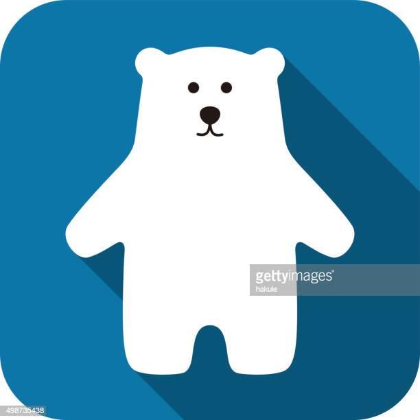 illustrations, cliparts, dessins animés et icônes de ours polaire debout icône design - ours polaire