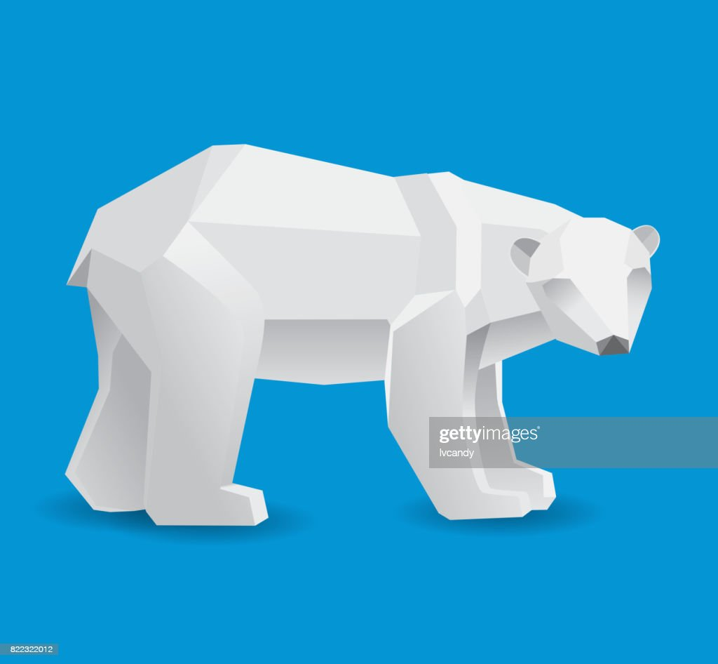 Polar bear : stock illustration