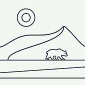 Polar bear vetor illustration