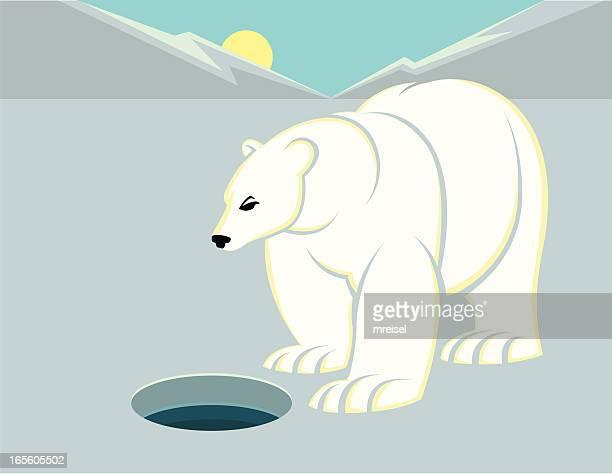 ネコウェイツする氷穴 - 毛穴点のイラスト素材/クリップアート素材/マンガ素材/アイコン素材