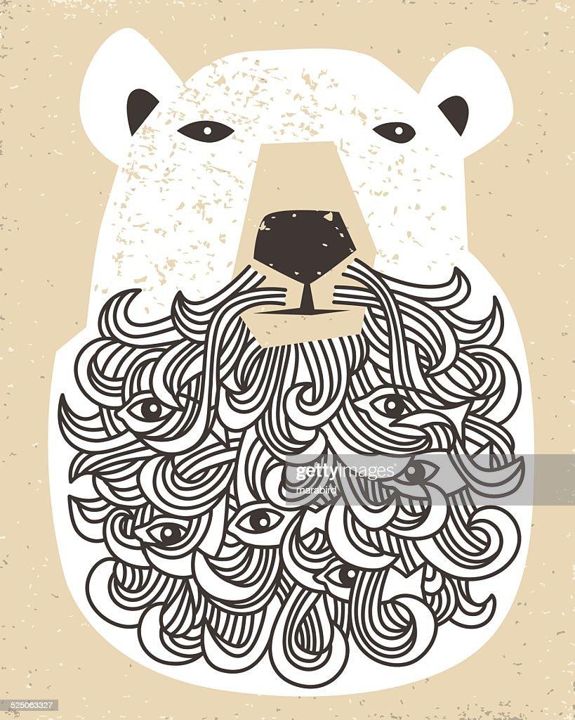 Polar Bear with beard