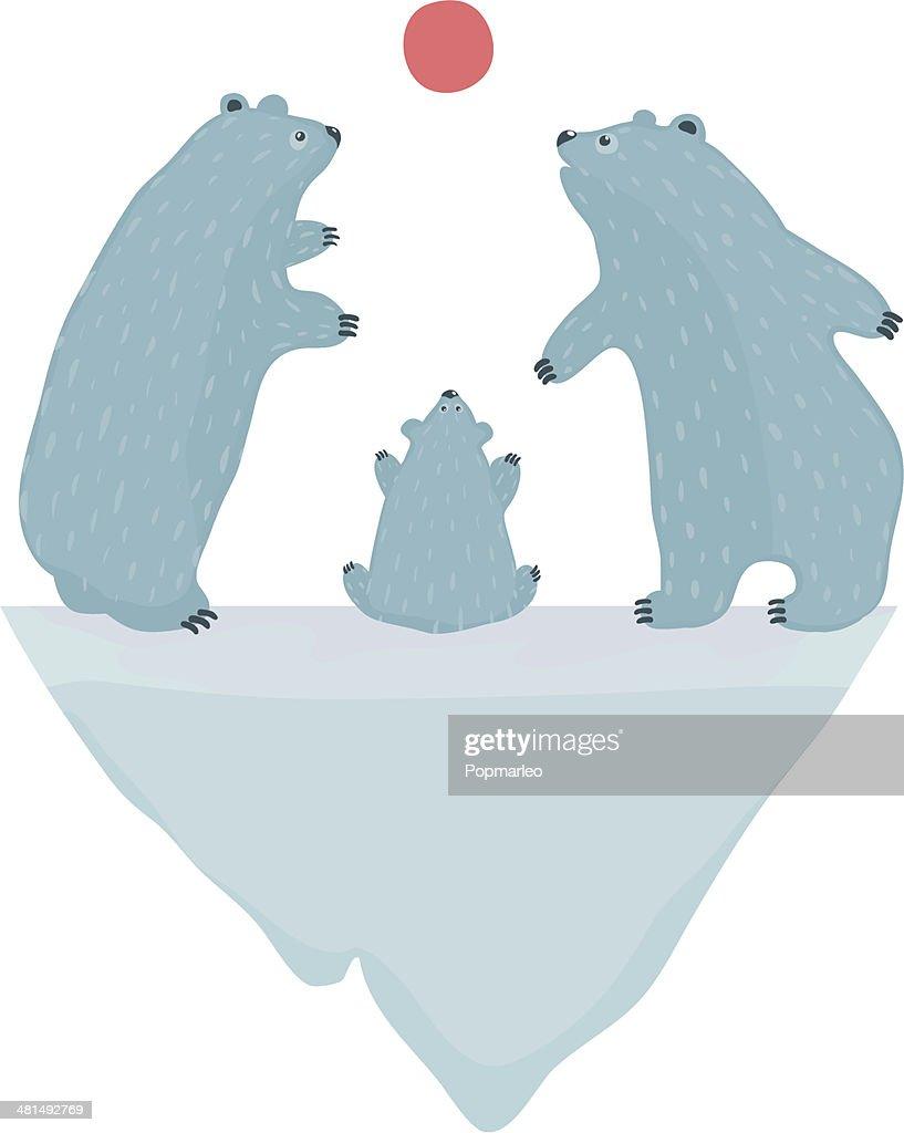 Polar Bears Watching the Sunset