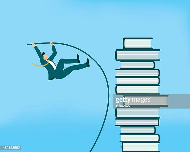ilustraciones, imágenes clip art, dibujos animados e iconos de stock de salto con pértiga - salto de longitud