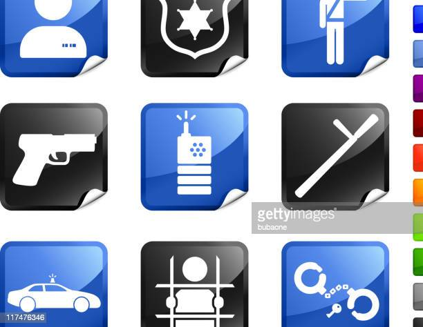 Police and Law Enforcement nine royalty free vector icon set