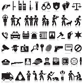 police and law icons