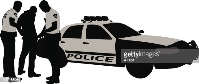 Police Arrest Vector Silhouette Stock Illustration Getty