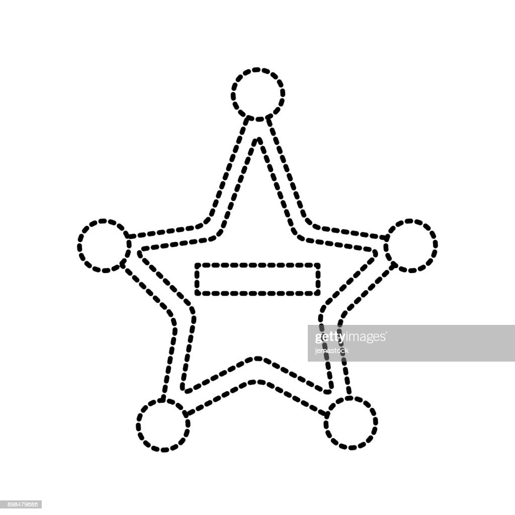 Police badge star shape