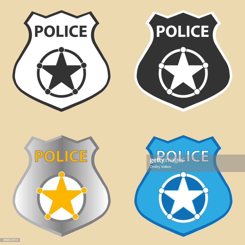 Police Badge Vector Art Getty Images